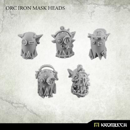 Conversion Bitz: Orc Iron Mask Heads (10)