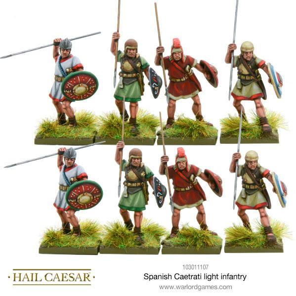 Hail Caesar: (Spanish) Caetrati Light Infantry