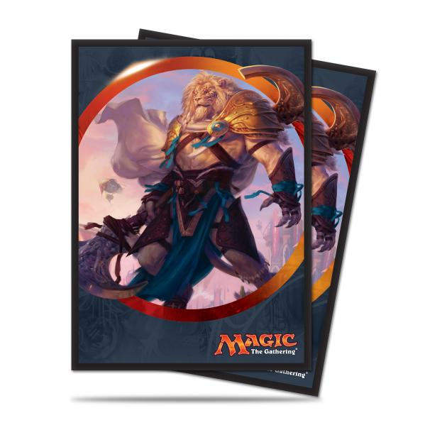 Magic The Gathering: Aether Revolt - Ajani Unyielding Deck Protectors (80)