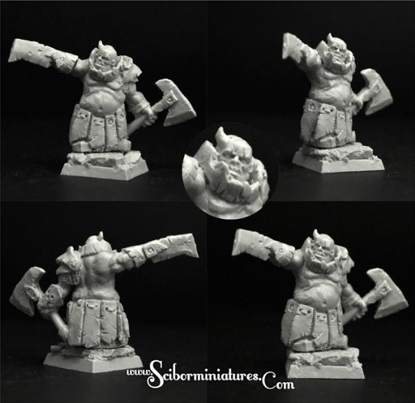 28mm Fantasy: (Moscals Army) Degenerate Dwarf #1 (1)