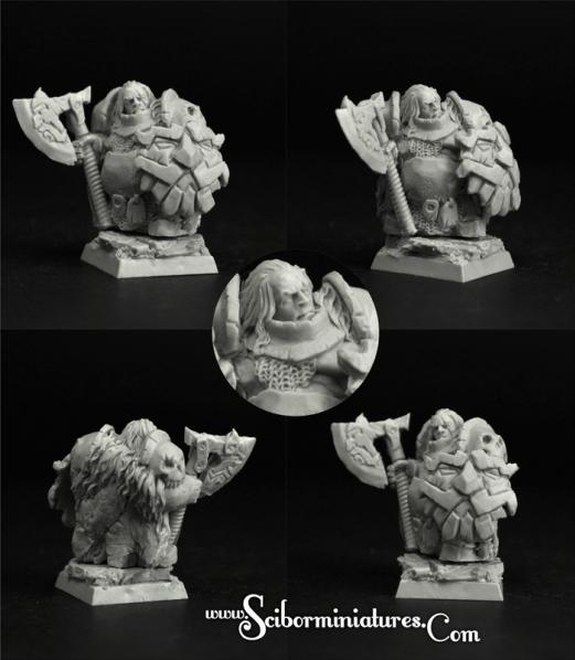 28mm Fantasy: (Moscals Army) Degenerate Dwarf #2 (1)