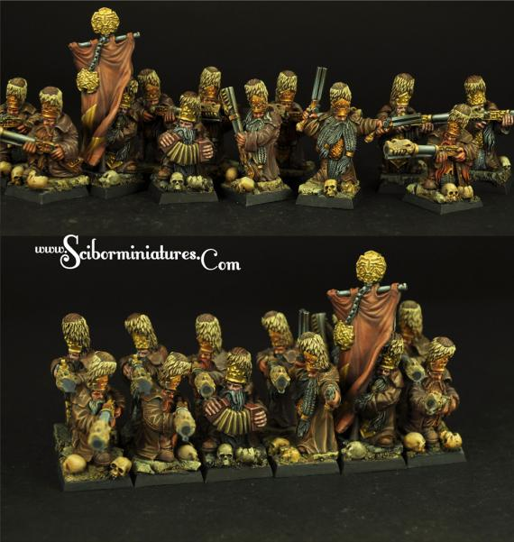28mm Fantasy: (Moscals Army) Strielecs Regiment (12)