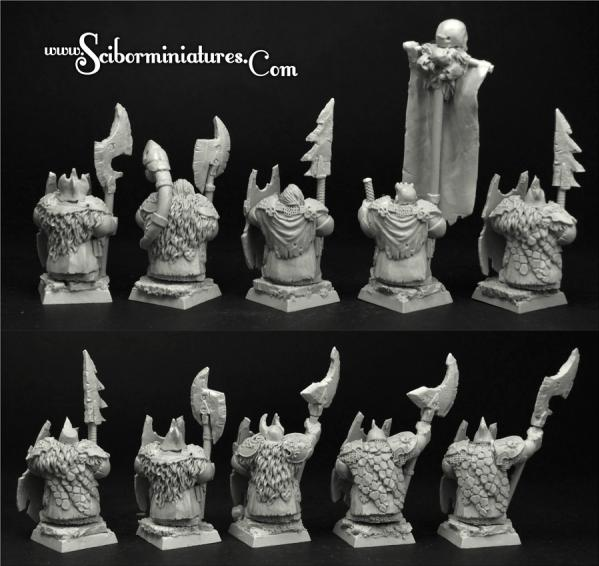 28mm Fantasy: (Moscals Army) Dark Guard Evil Dwarves (10)