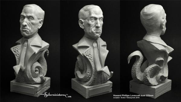 225mm H.P. Lovecraft Bust (1)