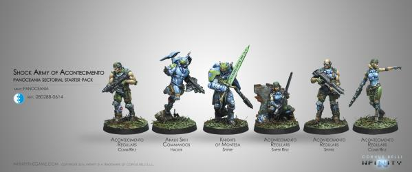 Infinity (#614) PanOceania: Acontecimento Shock Army, Sectorial Starter Pack