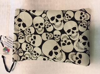 Dice Bag: (Cotton) Glow Skulls (1)