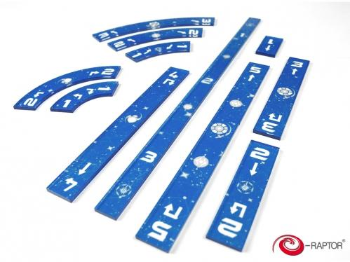 Miniatures Accessories: Star Wars X-Wing Blue Rulers Set