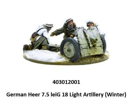Bolt Action, 2nd Edition: (German) Heer 7.5cm leIG 18 Light Artillery (Winter)