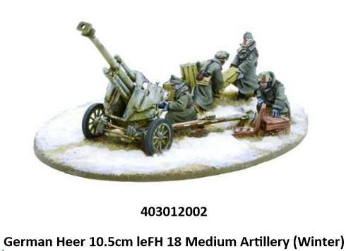 Bolt Action, 2nd Edition: (German) Heer 10.5cm leFH 18 Medium Artillery (Winter)