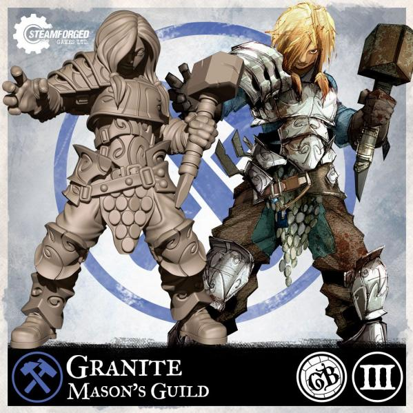 GuildBall: (Mason's Guild) Granite (Season 3)
