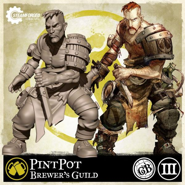 GuildBall: (Brewer's Guild) Pintpot (Season 3)