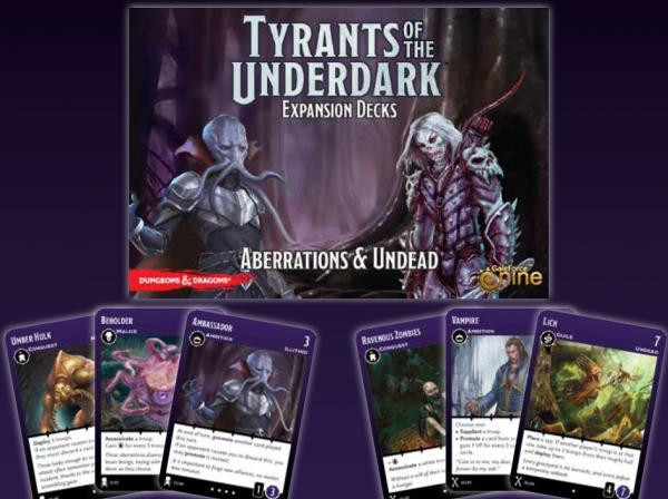 Dungeons & Dragons: Tyrants Of The Underdark Expansion Decks - Aberrations & Undead