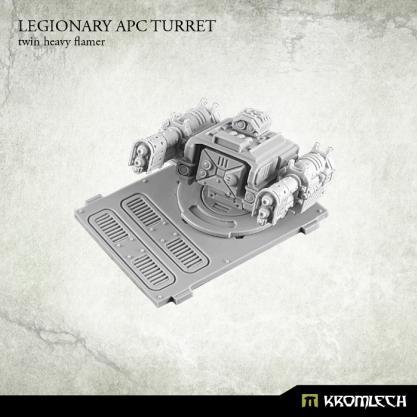 Kromlech Conversion Bitz: Legionary APC turret - Twin Heavy Flamer (1)
