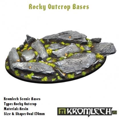 Kromlech Bases: 170mm Rocky Outcrop, Oval (1)