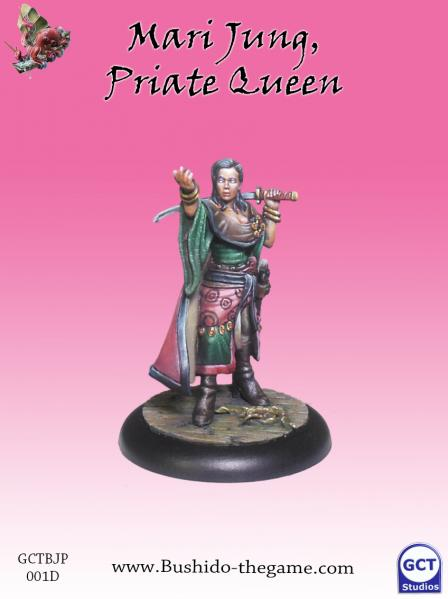 Bushido Miniatures: (Jung Pirates) Mari Jung, Pirate Queen