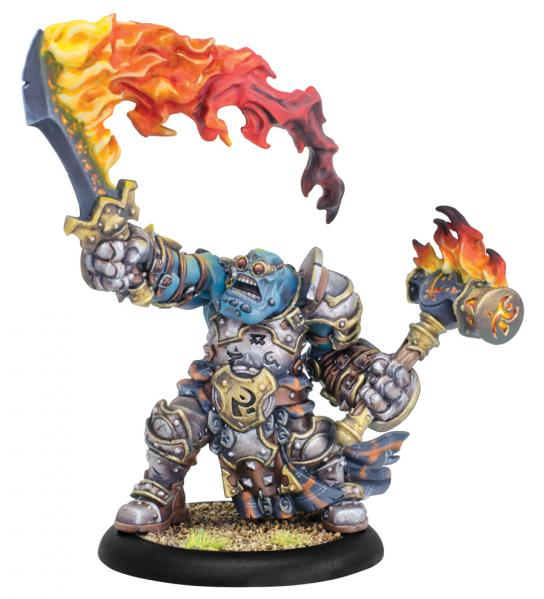 Hordes: (Trollbloods) Horgle the Anvil - Trollbloods Warlock (Metal/Resin)