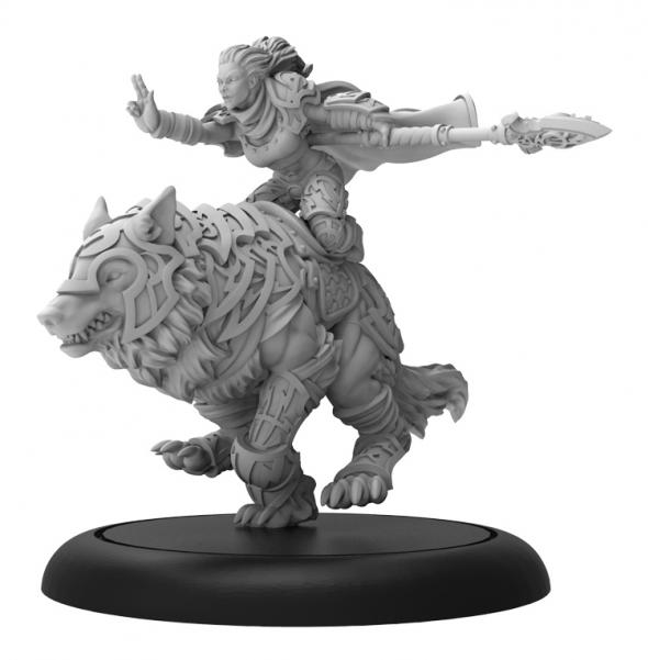 Hordes: (Circle Orboros) Kaya the Wildheart - Circle Orboros Warlock (Metal/Resin)