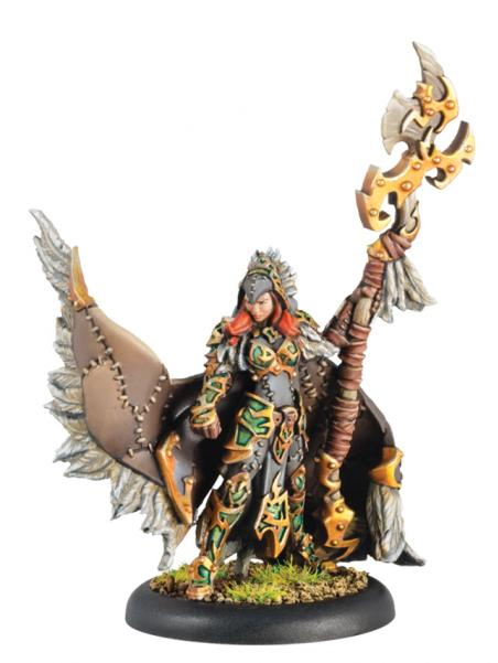 Hordes: (Circle Orboros) Una the Skyhunter - Circle Orboros Warlock (Metal)