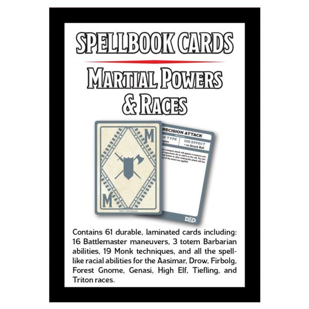 D&D: Spellbook Cards: Martial Deck (61 Cards)