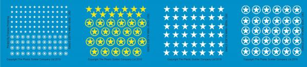 15mm Decal Sets: Allied Stars Decal Packs