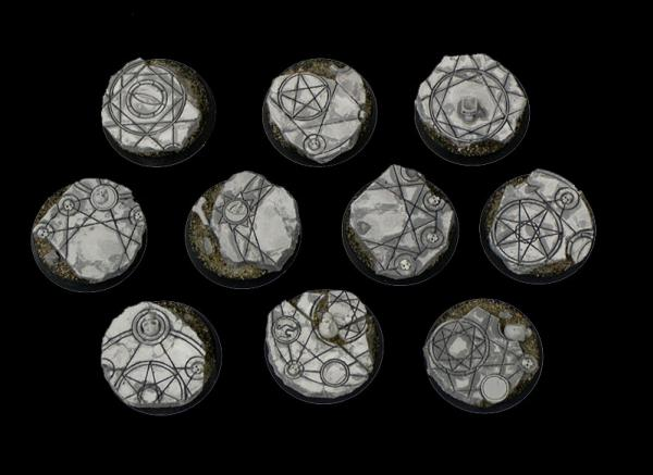 Scenic Bases: 32mm Shattered Ritual, Beveled Edge (10)