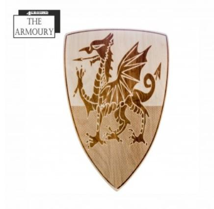 4Ground Armoury: Etched Shield - Tudor Welsh Dragon