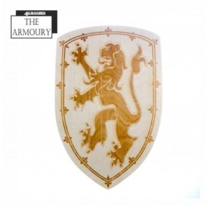 4Ground Armoury: Etched Shield - Scottish Lion