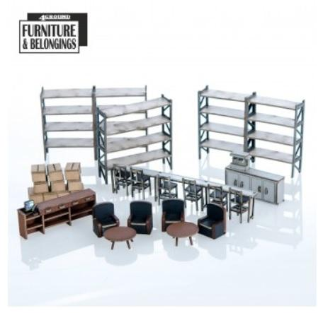 28mm Furniture: Coffee Store Collection