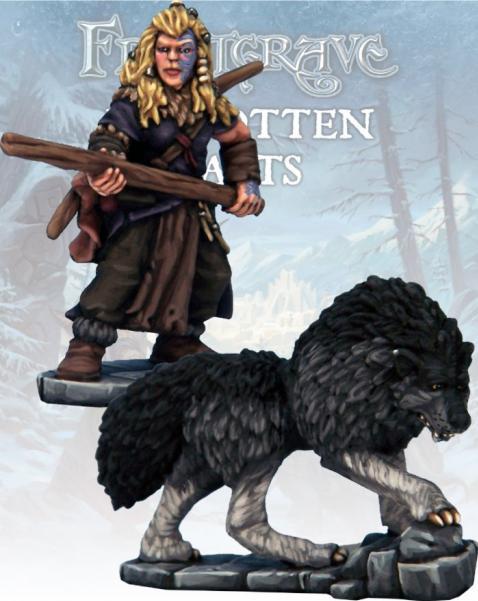 Frostgrave: Barbarian Tracker & War Hound