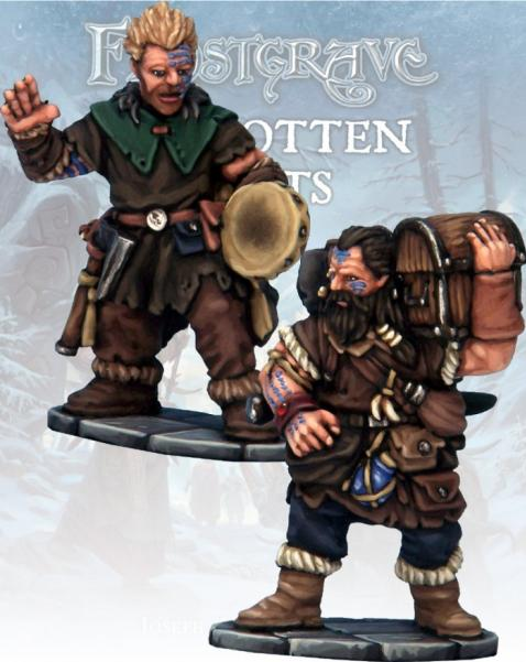 Frostgrave: Barbarian Bard & Pack Mule