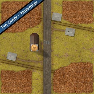 TANKS: Corn Fields Game Mat 36'' x 36''