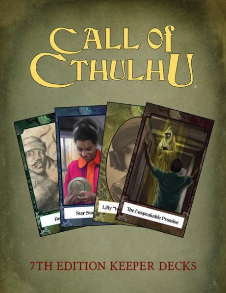 Call of Cthulhu RPG: Keeper's Decks