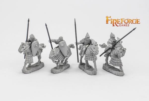 28mm Medieval: (Russian) Junior Druzhina Lancers (4 mounted resin figures)