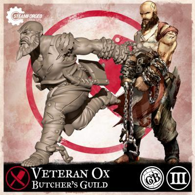GuildBall: (Butcher's Guild) Veteran Ox (Season 3)