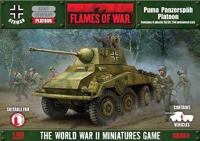 Flames Of War (WWII): (German) PUMA PANZERSPAH PLATOON