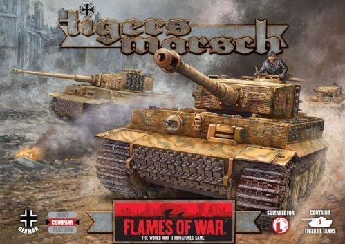 Flames Of War (WWII): (German) TIGERS MARSCH EDITION (Limited) (Plastic)
