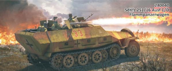 28mm WWII: (German) SdKfz 251/16 Ausf C/D EXPANSION KIT Only