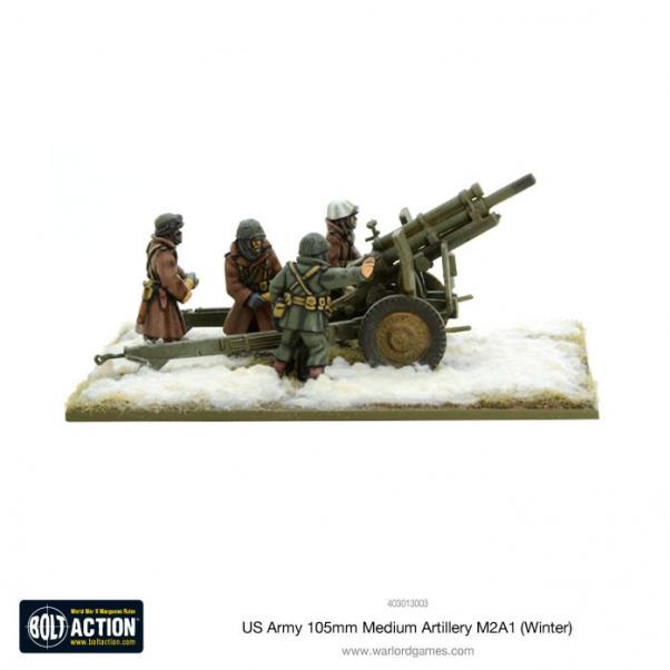 Bolt Action, 2nd Edition: US Army 105mm Medium Artillery M2A1 (Winter)