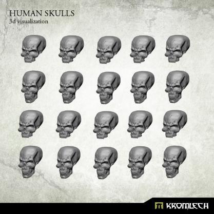 Kromlech Conversion Bitz: Human Skulls (20)