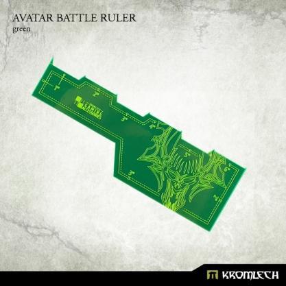 Kromlech Accessories: Avatar Battle Ruler [green] (1)