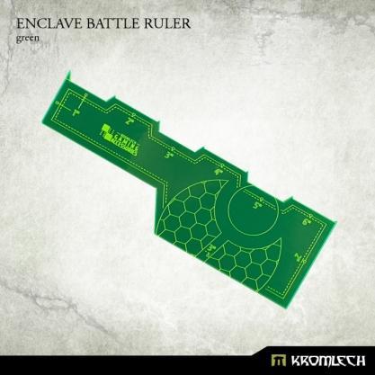 Kromlech Accessories: Enclave Battle Ruler [green] (1)