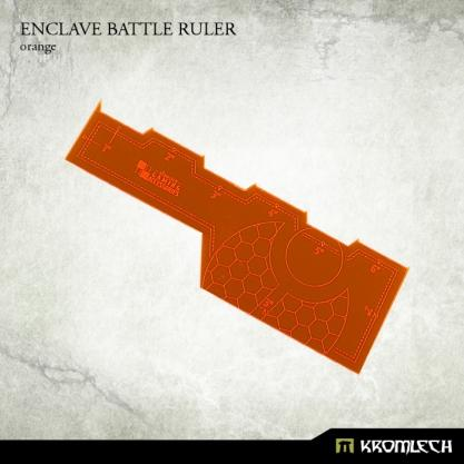 Kromlech Accessories: Enclave Battle Ruler [orange] (1)