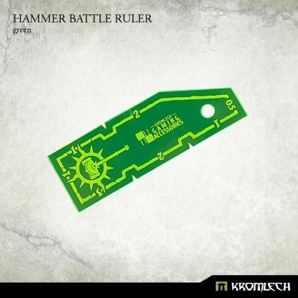 Kromlech Accessories: Hammer Battle Ruler [green] (1)