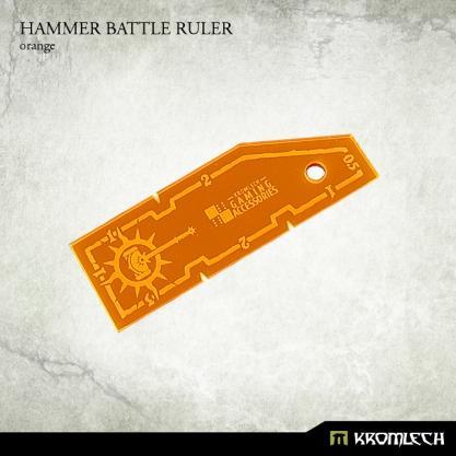 Kromlech Accessories: Hammer Battle Ruler [orange] (1)