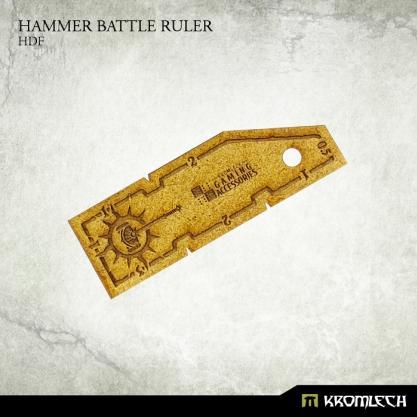 Kromlech Accessories: Hammer Battle Ruler [HDF - High Density Fibreboard] (1)