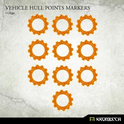 Kromlech Accessories: Vehicle Hull Points Markers [orange] (10)