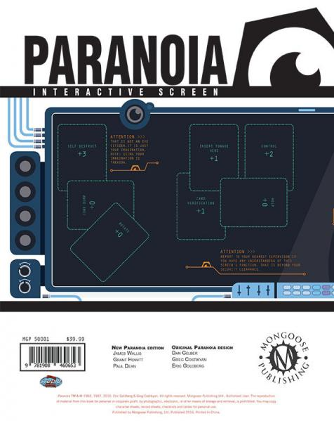 Paranoia RPG: Paranoia Interactive Screen