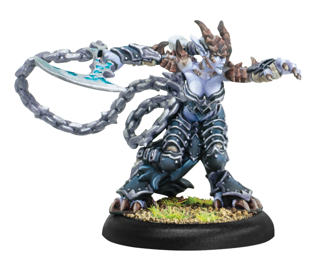 Hordes: (Legion Of Everblight) Fyanna, Torment of Everblight - Legion Strider Warlock (Metal)