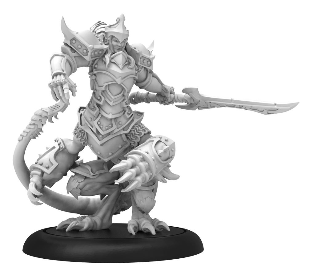 Hordes: (Legion Of Everblight) Kallas, Devastation of Everblight - Legion Warlock (Metal/Resin)