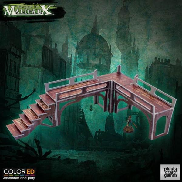 Malifaux: (Terrain) Downtown Walkway Set (Color ED)